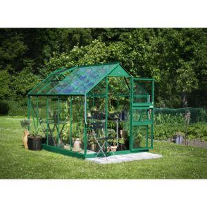Serre de jardin Princess verre trempé 6,20m² + embase – Eden
