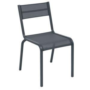 Chaise Fermob Oléron aluminium/textilène carbone