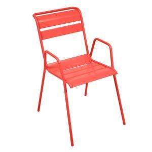 Chaise empilable Fermob Monceau acier capucine