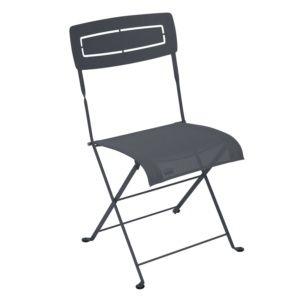 Chaise pliante Fermob Slim acier/textilène carbone