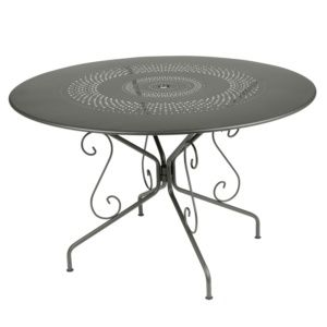 Table de jardin Fermob Montmartre acier Ø117 H74 cm romarin