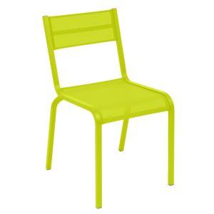 Chaise Fermob Oléron aluminium/textilène verveine