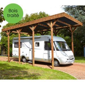 Carport pour Camping Car en bois traité 32,40 m²