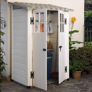 Abri de jardin résine PVC 1 m² Ep. 22 mm Evo – Plantes et Jardins – Jardinerie en ligne