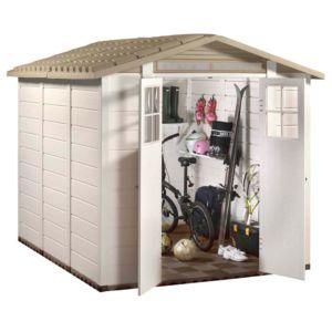 Abri de jardin en résine PVC Garofalo Evo240 5,91 m², épaisseur 22 mm