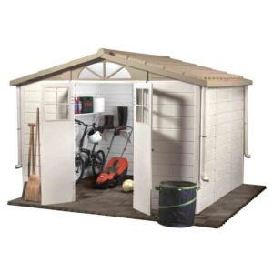 Abri de jardin en résine PVC Garofalo Evo 8,03 m², épaisseur 22 mm