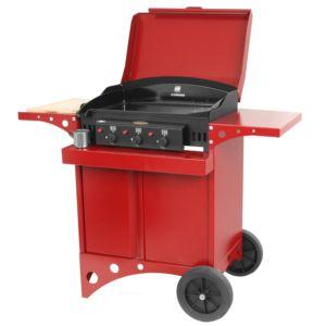 Plancha à gaz Le Marquier Kitchen 3 brûleurs rouge