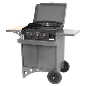 Plancha à gaz Le Marquier Kitchen 3 brûleurs gris