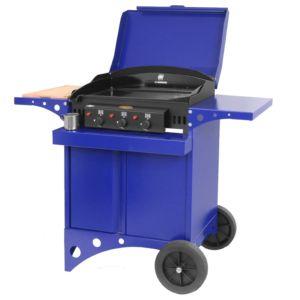 Plancha à gaz Le Marquier Kitchen 3 brûleurs bleu