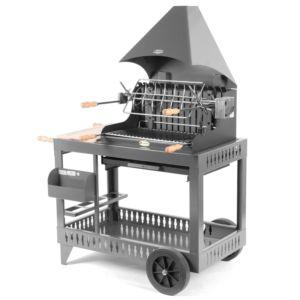 Barbecue charbon Le Marquier Mendy avec hotte gris