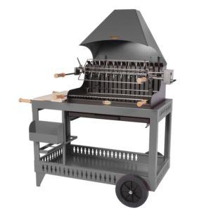 Barbecue charbon Le Marquier Isturitz avec hotte gris