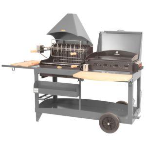 Barbecue avec plancha Le Marquier Mendy Alde gris