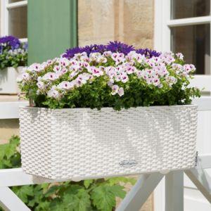 Jardinière Lechuza Balconera Cottage L50 H19 cm blanc
