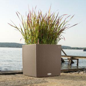 Pot Lechuza Cube Cottage L30 H30 cm mocca