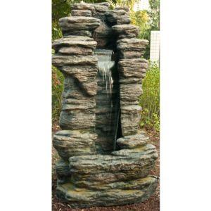 Fontaine de jardin Cleveland H180 cm avec éclairage LED