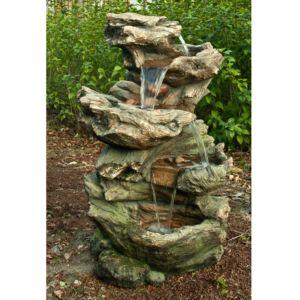 Fontaine de jardin Norfolk H119 cm avec éclairage LED