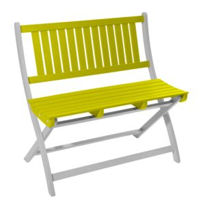 Banc pliant City Green Burano bois 2/3 places anis