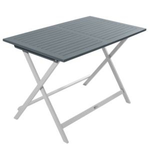 Table pliante City Green Burano en bois l113 L65 cm gris