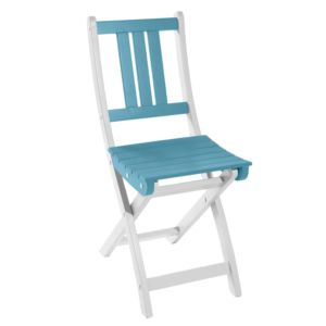 Chaise pliante City Green Burano bois bleu