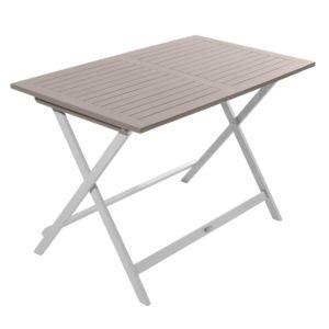 Table pliante City Green Burano en bois l113 L65 cm argile