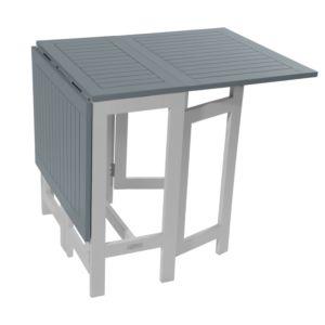 Table console pliante City Green Burano en bois l37-135 L65 cm gris