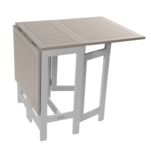 Table console pliante City Green Burano bois l37-135 L65 cm argile