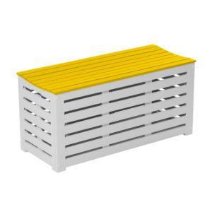 Coffre banc City Green Burano bois 125L jaune