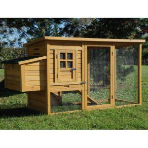 Poulailler en bois Cottage II pour 2 à 3 poules avec pondoir