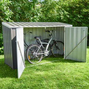 Grand coffre de jardin en métal Jasper 1,41 m² gris anthracite