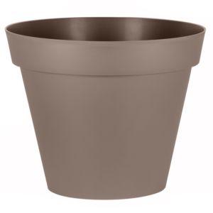 Pot XL EDA Toscane en résine Ø100 H80 cm taupe