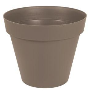 Pot EDA en résine Toscane Ø80 H66 cm taupe