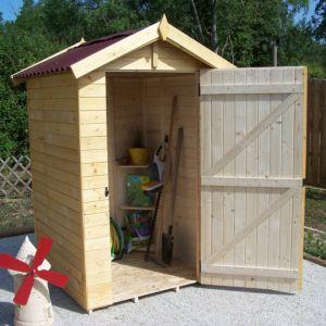 Petit abri de jardin bois 2,03 m² Ep. 16 mm Habrita