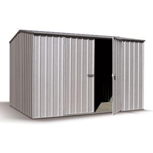 Petit abri de jardin en métal 4,56 m² Ep. 0,35 mm Shelby. PLANTES-ET-JARDINS – Jardinerie en ligne