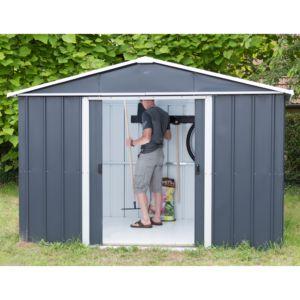 Petit abri de jardin en métal 5,97 m² Ep. 0,30 mm Yardmaster. PLANTES ET JARDINS – Jardinerie en ligne