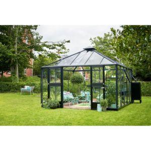 Serre de jardin en verre trempé Oase 13.5 m² – Anthracite Juliana