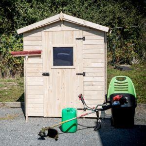 Petit abri de jardin bois 2,61 m² Ep. 16 mm Habrita PLANTES ET JARDINS – Jardinerie en ligne