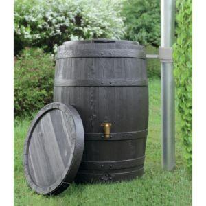 Récupérateur d'eau Tonneau Vino 250 L Brun – Garantia