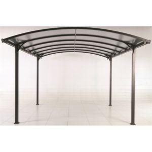 Carport en aluminium avec éclairage autonome 18 m²