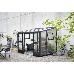 Serre de jardin adossée Veranda 6.6 m² – Anthracite – Juliana
