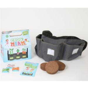 Kit enfants Croq' Miam avec jardinière textile à suspendre