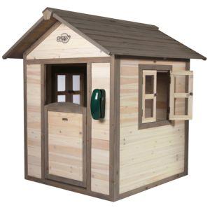 Maisonnette pour enfant en bois Lodge naturel PLANTES-ET-JARDINS – Jardinerie en ligne
