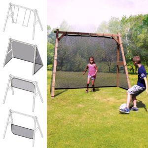 Portique multi jeux bois Family fun + balançoire + Filet brun PLANTES-ET-JARDINS – Jardinerie en ligne