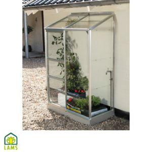 Serre adossée IDA en verre 0.90 m² – Lams
