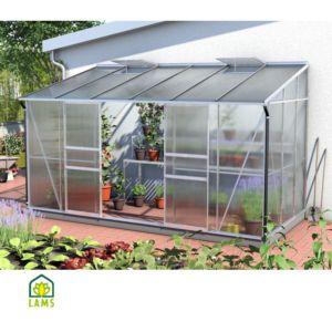 Serre adossée IDA en verre trempé 7.80 m² – Lams
