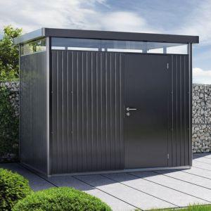 Abri de jardin en métal 7,56 m² Ep. 0,53 mm HighLine Biohort gris foncé PLANTES-ET-JARDINS Jardinerie en ligne