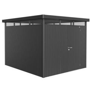 Abri de jardin métal 8,66 m² Ep. 0,53 mm HighLine Biohort gris foncé PLANTES-ET-JARDINS – Jardinerie en ligne