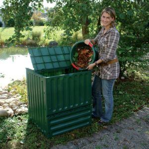 Kit Composteur Eco-King Vert 600 L + grille de fond – Garantia