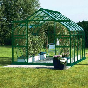 Serre Diana en verre trempé 8.25 m² vert – Lams