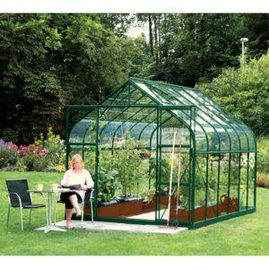 Serre Diana en verre trempé 9.85 m² vert – Lams