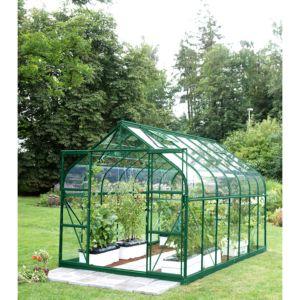 Serre Diana en verre trempé 11.45 m² vert – Lams